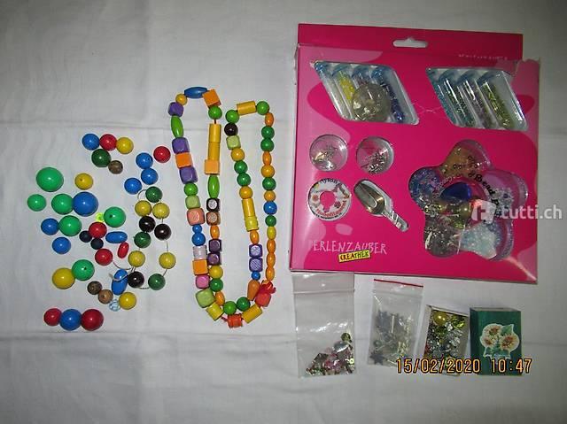 Perlenzauber, Perlen, Holzkugeln,  Kettenzubehör,
