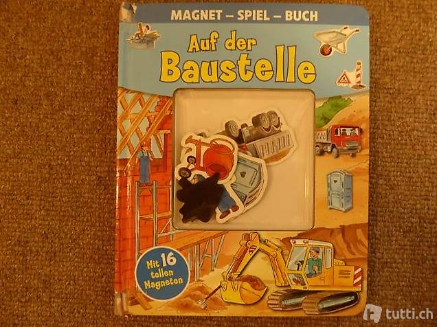 """Magnetspielbuch """"Auf der Baustelle"""""""
