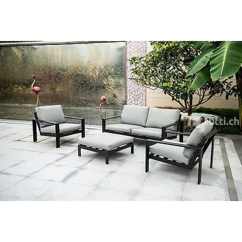 Sitzgruppe Rio - L Gartenlounge Alu GArtenmöbel Lounge
