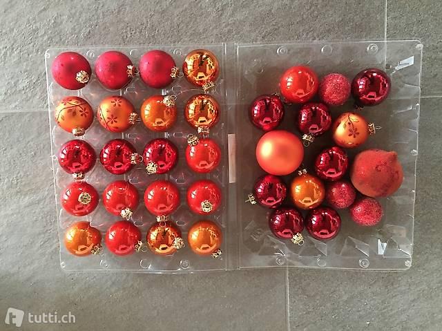 Weihnachsschmuck aus Glas, diverse Farben
