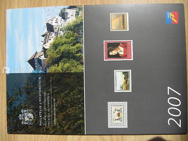 Briefmarken Fürstentum Liechtenstein Jahresausgabe 2007