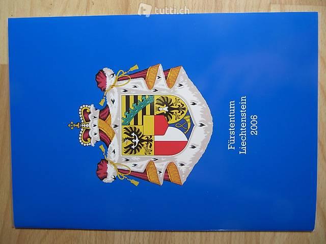 Briefmarken Fürstentum Liechtenstein Jahreausgabe 2006
