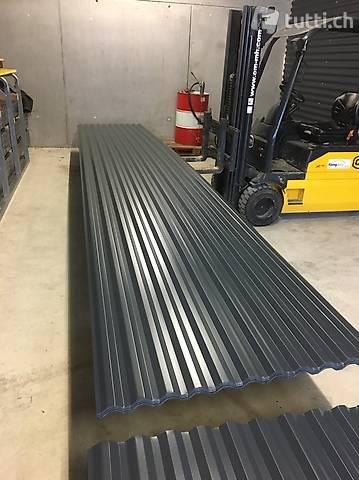 Trapezblech Blech Profilblech 3m Wellblech Dachblech Grau RAL7016