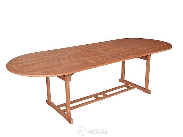 Ausziehtisch Gartentisch Holztisch Gartenmöbel Tisch LAGO
