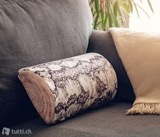 Kissen, Nackenhalbrolle, Birken Design
