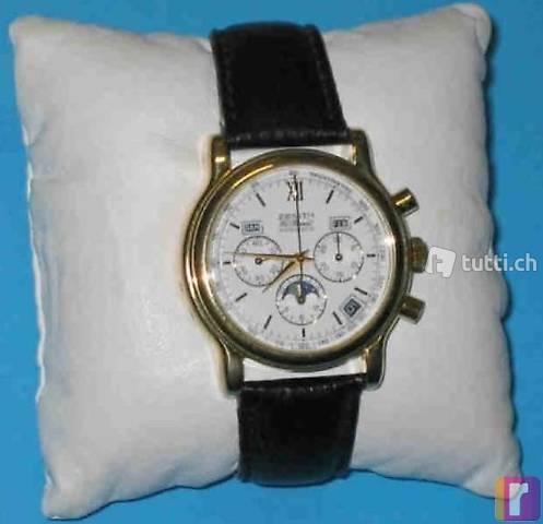 Gold Uhr Zenith El Primero mit Sichtboden