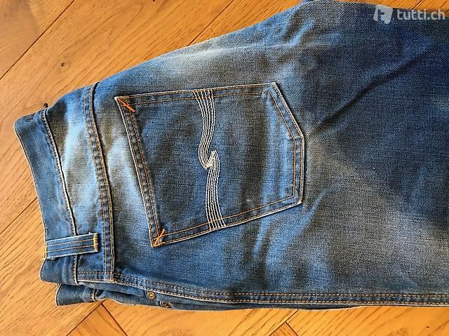 """Nudie Jeans blau """"Slim Jim"""" 33/32"""
