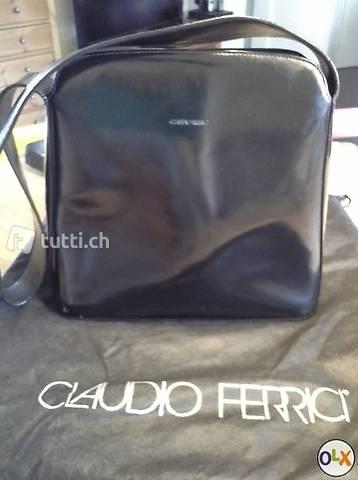 Claudio Ferrici Schultertasche Lackleder (Globus)