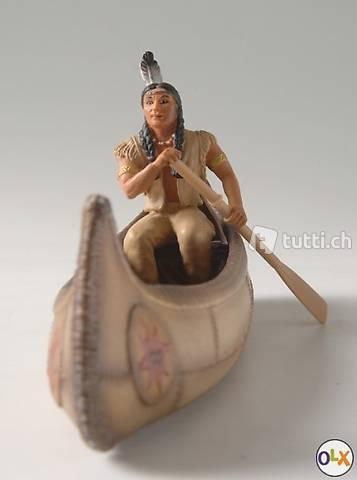 42013 Kanu mit Indianer Schleich-Rarität