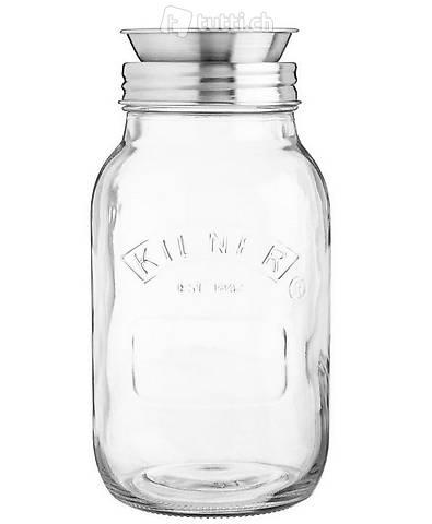Einmachglas 1 Liter mit Spiralschneider