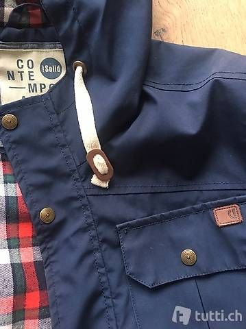SOLID Outddorjacke Jacke Herren blau Gr. S in