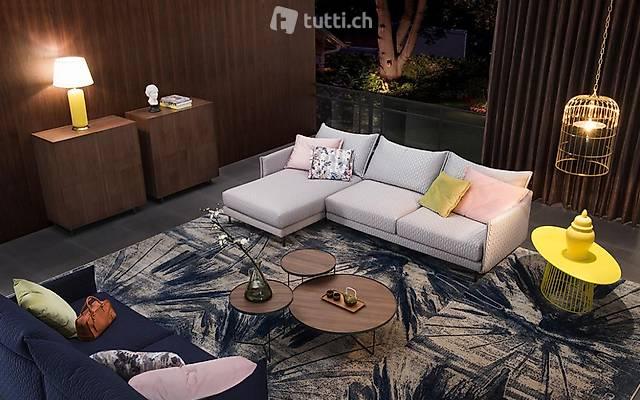 Design Ecksofa L-Form Stoff Couch Polster Sitz Garnitur