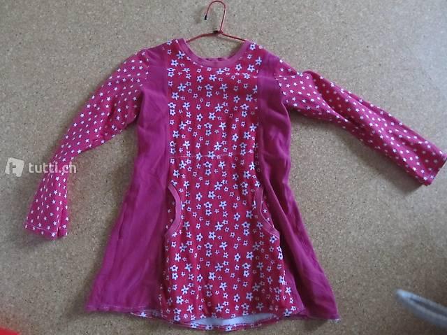 Kleid Gr. 146/152 in pink Baumwollkleid