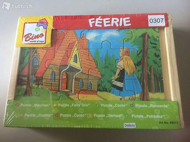 Neu Originalverpackt Holz-Puzzle-Märchen!