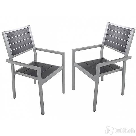 Stuhl Polywood im Doppelpack, (Gratis Lieferung)
