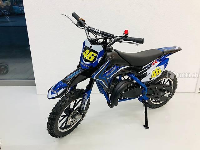 Kinder Pocket Bike, Motocross Töff, Benzin, 49ccm