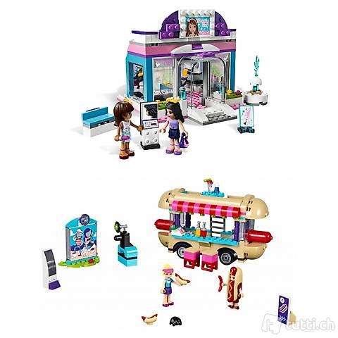 Lego 2x Friends Hotdog Stand und Beautysalon