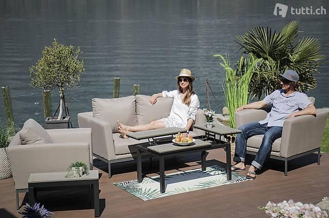 Sunbrella Lounge Set sandbraun - Gartenmöbel