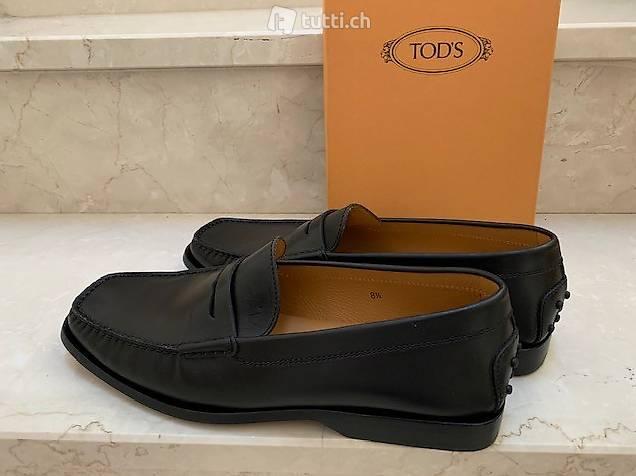 Tod's Loafer/Mokkasin schwarz, 100% Leder, Gr. 8 1/2 (42.5)