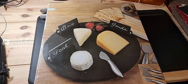 servizio formaggio girevole in ardesia - nuovo