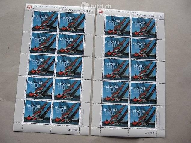 2 Alinghi Briefmarken Boegen