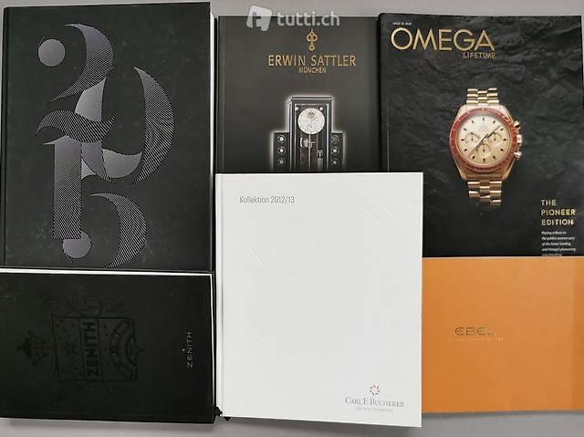 Sechs Uhrenkataloge - Inkl. Baselworld Brand Book 2015