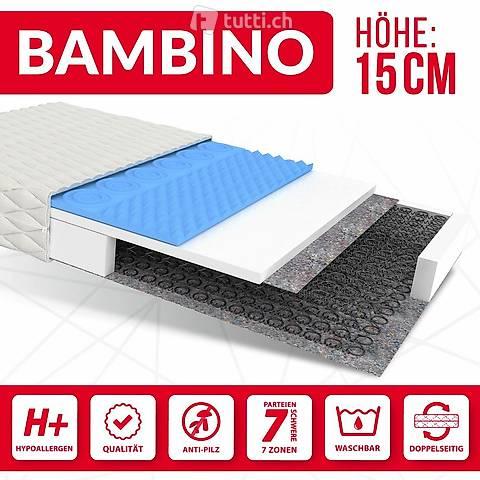 Kindermatratze 80x200 - BAMBINO H2 Bonell-Federn - 15cm