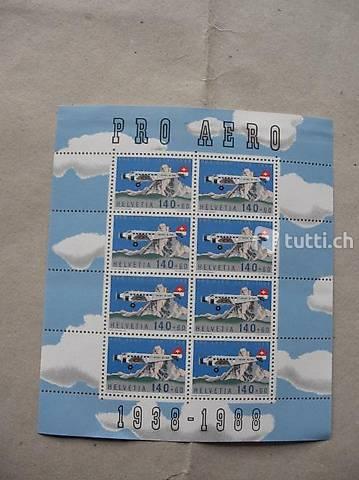 Wunderschöner Briefmarken Flugpostbogen