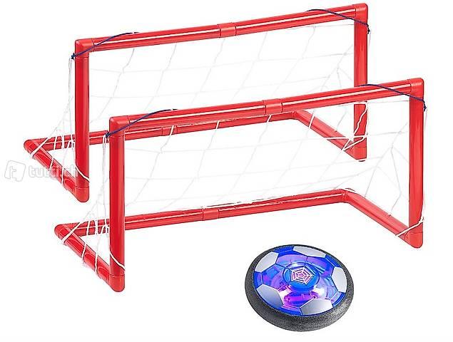 Luftkissen-Indoor-Fußball, Farb-LEDs, Möbelschutz, 2 Tore, A