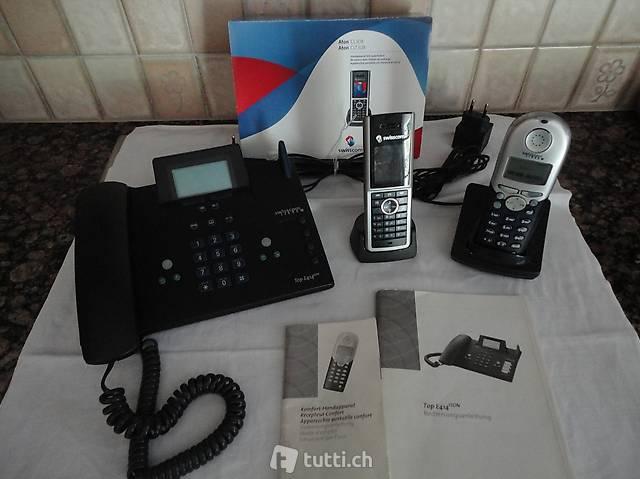 Telefon, 1 Zentrale,  und 2 Portable Swisscom fixnet