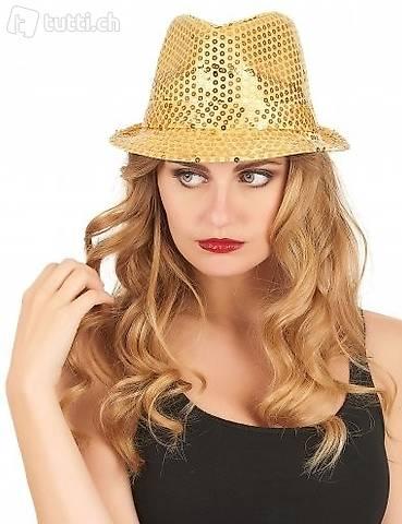 Cappello di paillette Oro