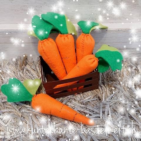Karotten aus Filz