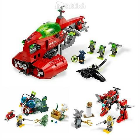 Lego 3x Atlantis, Megaset Nr. 4, tolle Figuren