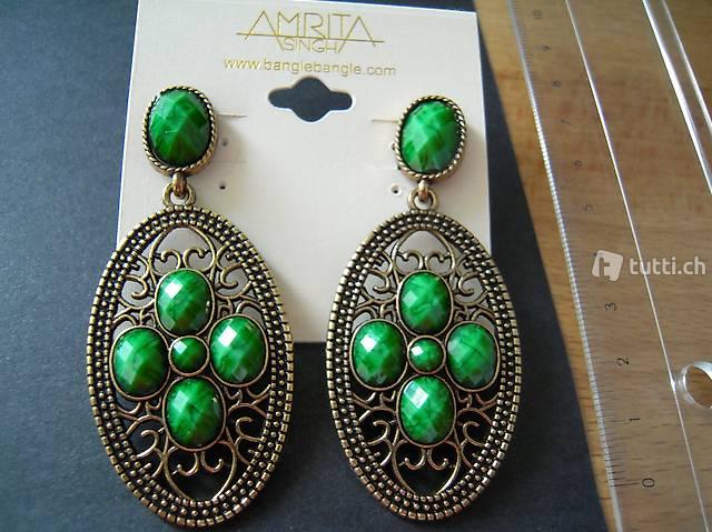 Original Amrita Singh Ohrringe (neu, originalverpackt)