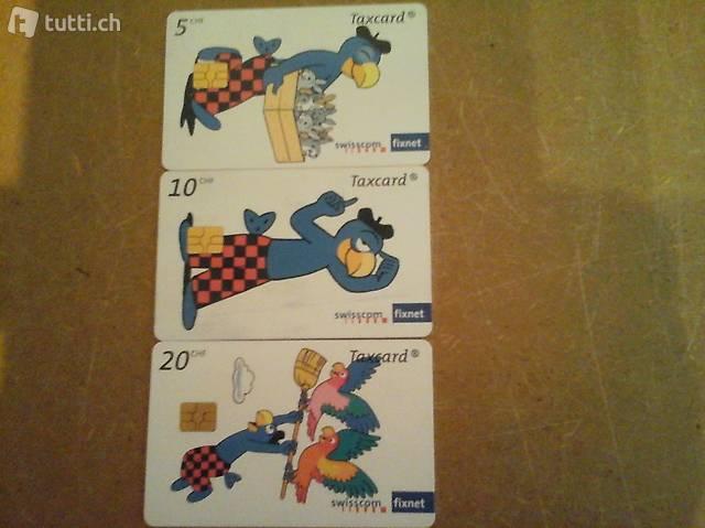 Tax-Telefonkarten Serie Globi / Züri Fäscht 1994 /  div.ande