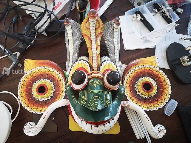 handgeschnitzt Originale grosse Holzmaske