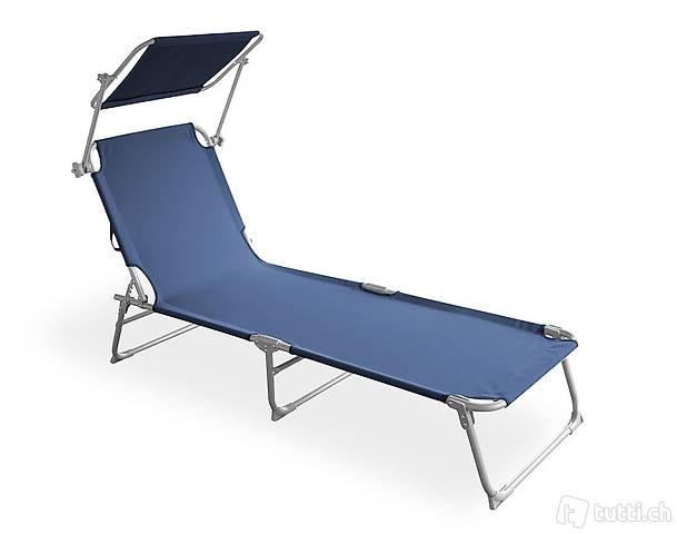 Sedia a sdraio (blu) (Consegna gratuita)