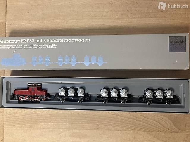 Modelleisenbahn Märklin Güterzug BR E63