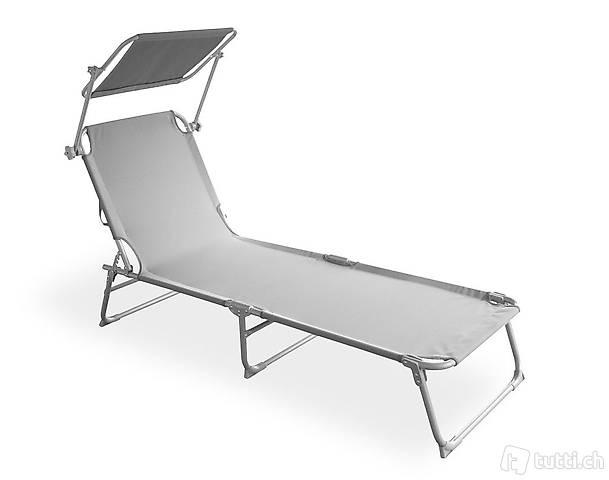 Sedia a sdraio (grigio) (Consegna gratuita)