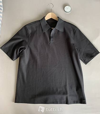System Homme Grey Jersey Polo