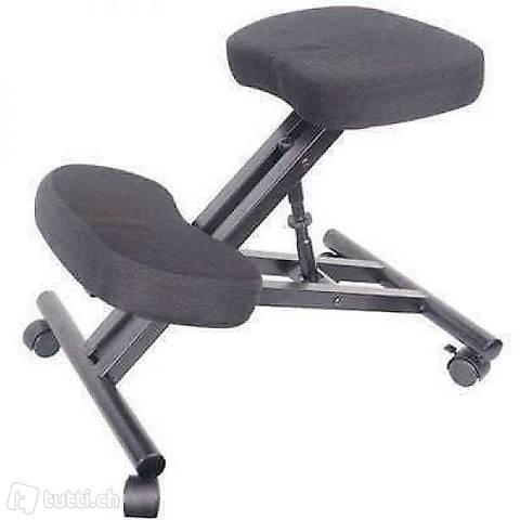 Kniestuhl Sitzhocker Büro schwarz (Gratis Lieferung)