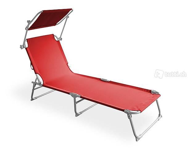 Sedia a sdraio (rosso) (Consegna gratuita)