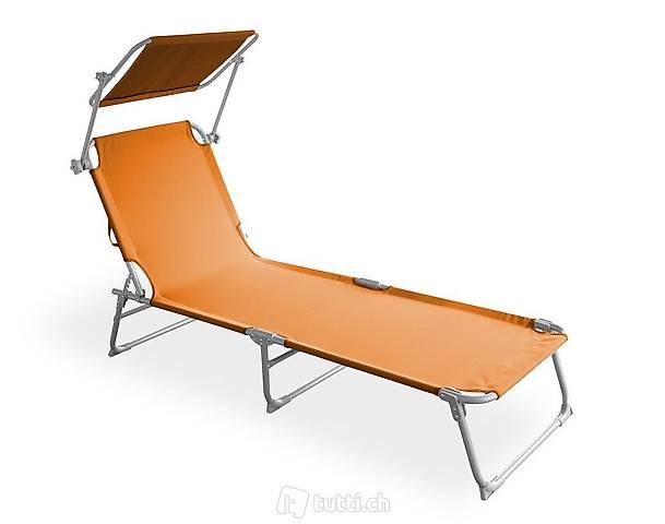 Sedia a sdraio (arancione) (Consegna gratuita)