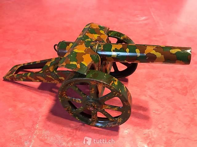 Blechspielzeug antik Kanone