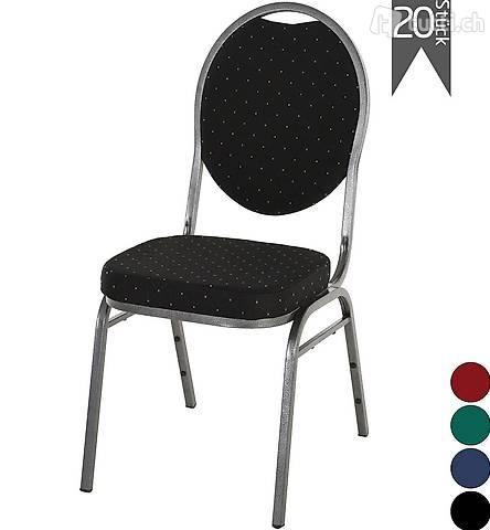 Bankettstühle 20er Set Schwarz Saalstuhl Seminarstuhl