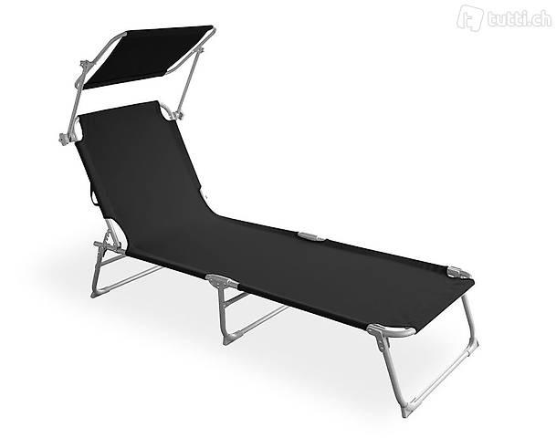 Sedia a sdraio (nero) (Consegna gratuita)