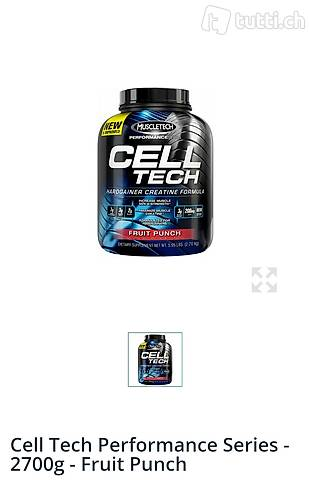 Gainer Cell Tech Performance Series - 2700g - Fruit Punch