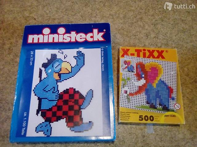 Steckspielzeug Ministeck globi und x-tixx elefant