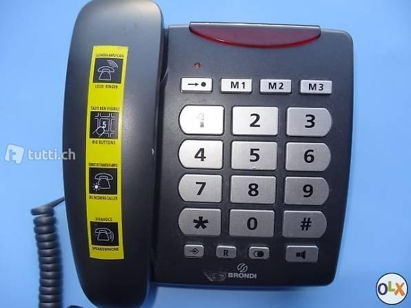 Téléphone de table pour malvoyant