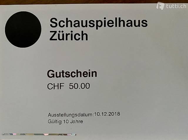 Gutscheine für Schauspielhaus Zürich